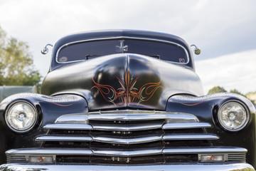 Biberach, Germany, 31 August 2015: American vintage car, close-u