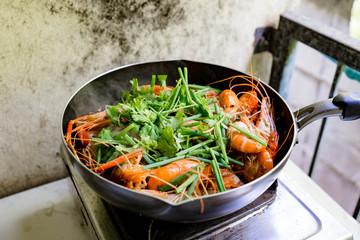 Baked shrimp vermicelli