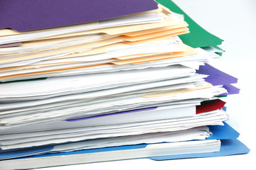 stacking documents and folders
