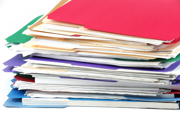 close up of stacking documents