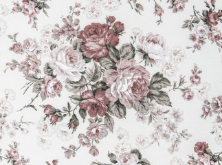 Door stickers Vintage Flowers vintage style of tapestry flowers fabric pattern background