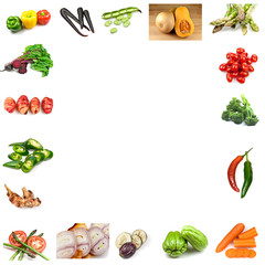 Collage of Different Vegetables