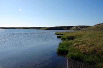 Tundra lake at Ayon Island Chukotka