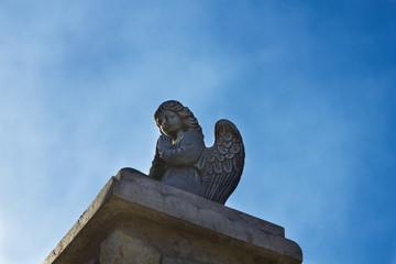 Beautiful statue of a praying angel
