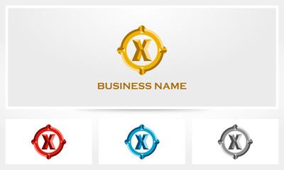 Letter X Bold Luxury Logo