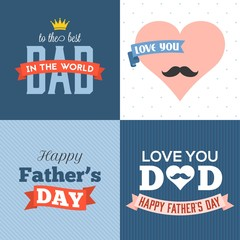 Vector happy father's day