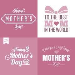 Vector happy mother's day