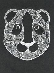 White color panda muzzle