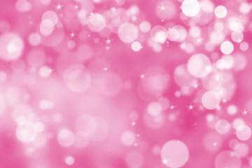 Abstract illustration bubble light on magenta background