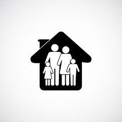 family in home   icon