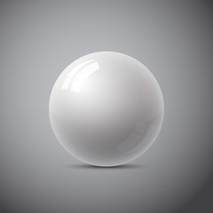isolated gray sphere, abstract