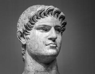 Fototapeta Marble head of Nero   Roman Emperor  obraz