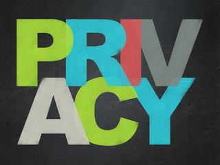 Security concept: Privacy on School Board background