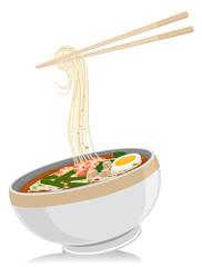 Asian Food Laksa Noodles Chopsticks