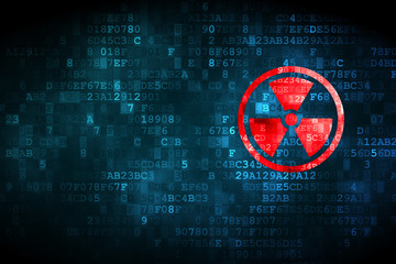 Science concept: Radiation on digital background
