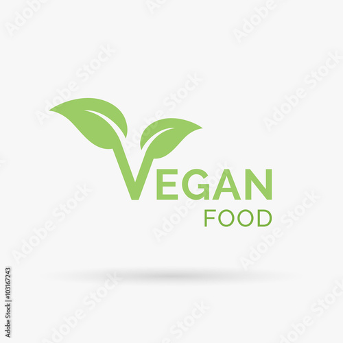 Vegan Icon Design Vegan Symbol Design Vegan Food Sign With Letter