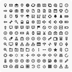 Large set of universal icons