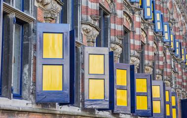 Blinds at the Kanselarij building in Leeuwarden