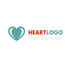 Heart logo design template, medical, pharmacy, medicine, health care sign, vector illustration