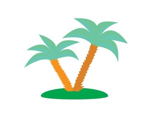 Palm trees, vector illustration