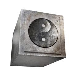 Yin Yang - Cube - Metall