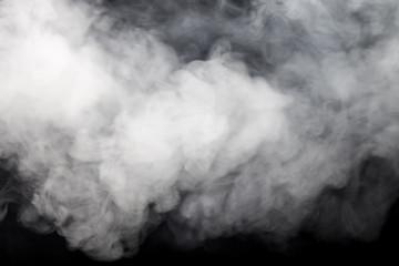 Smoke on a black background. Defocused