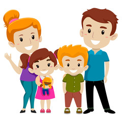 Illustration Set of Happy Family