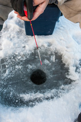 Winter fishing on the ice