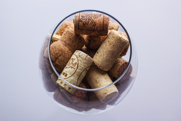 glass with corks