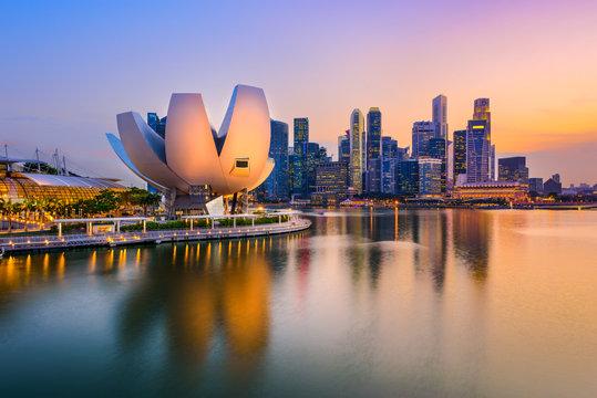 Singapore Skyline at Dusk