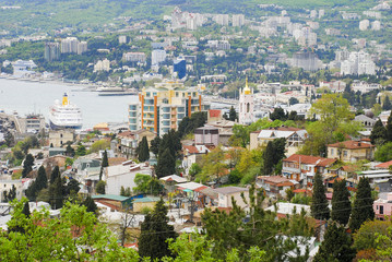 Crimea. View of Yalta from east