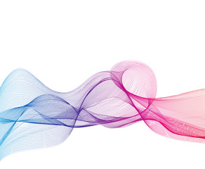 Abstract Colored Wave Background. Vector Illustration.