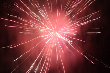 2016 (31 December 2015 at midnight) new year fireworks show in Bregenz, Vorarlberg, Austria.