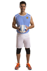 Professional Argentine Volleyball player with ball.