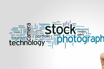 Stock photography word cloud