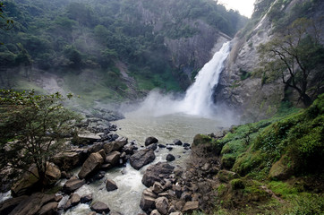 Dunhinda Falls is a waterfall located about 5 kilometres from Badulla town in Sri Lanka.