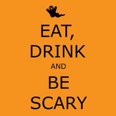 Halloween greeting vector card.