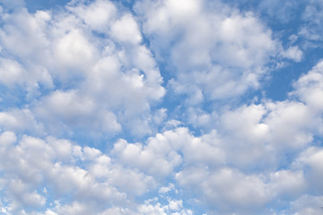 white cloud and blue sky, background and texture