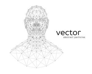 Abstract vector illustration of human head