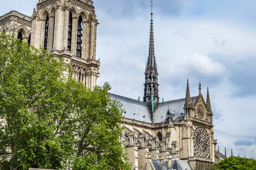 The Notre Dame cathedral in central Paris is one of the most famous churches in France