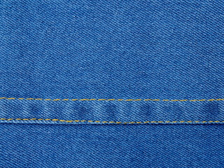 Blue jeans with seam
