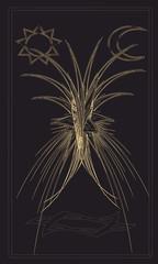 Tarot cards - back design. The Tree of Life