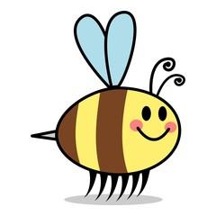 Comic Smiling Bee Bienen Cartoon