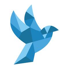 Amazing Cubism Pigeon Stock illustration