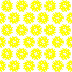 Summer seamless pattern with juicy citrus.