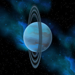 Uranus Planet - Uranus is the seventh planet in our solar system and has 27 moons and a vertical ring system.