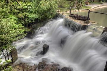 Serendah Waterfall. Six kilometers north of Rawang,Selangor Malaysia, is this 'Cowboy' town Serendah.