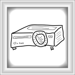 Simple doodle of a projector
