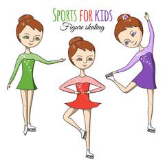 Sports for kids. Figure skating.