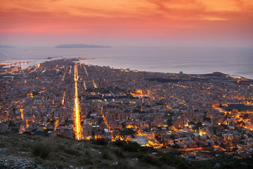 Trapani city in the evening